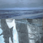 Moon-Tide - Mixed media - 66cm x 40cm framed
