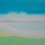 Suffolk, Thin Red Line 2 - Acrylic on canvas - 53cm x 41cm