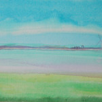 Suffolk, Thin Red Line 4 - Acrylic on canvas - 53cm x 41cm