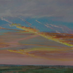 Over Benacre Fen, Suffolk - Acrylic on canvas - 50cm x 40cm