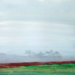 From Coopers Lane, Suffolk - Acrylic on paper - 44cm x 38cm