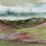 Above Loch Ness, Scotland - Watercolour