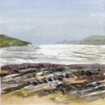 Booley Bay, Wexford, Ireland - Watercolour - 12cm x 10cm