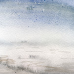 Essex marshes - Watercolour - 12cm x 10cm