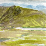 Glencoe 1, Scotland - Watercolour - 12cm x 12cm