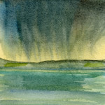 Poole harbour - Watercolour - 12cm x 12cm