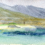 Roundstone, Connemara, Co. Galway - Watercolour - 12cm x 12cm
